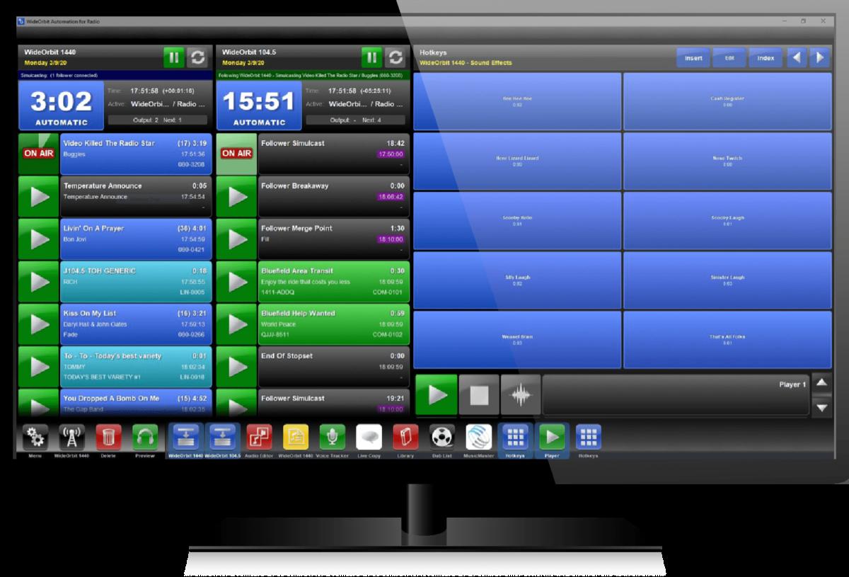WO AFR Radio Automation Software Screenshot