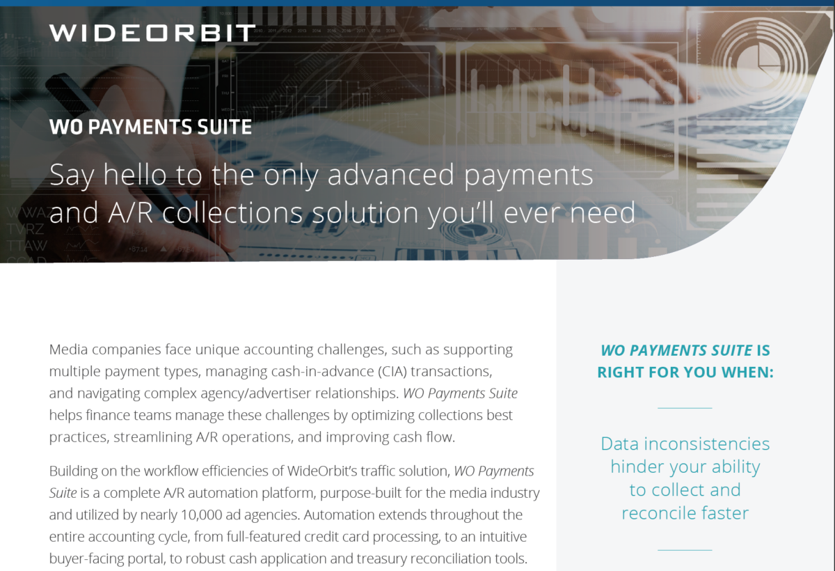 WideOrbit Payments Suite Product Overview